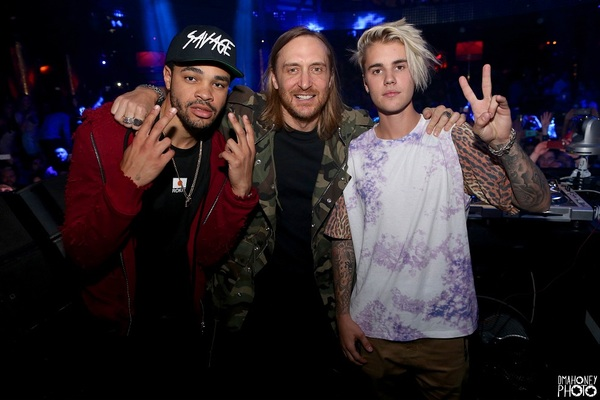 Maejor, David Guetta and Justin Bieber