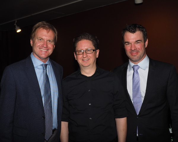 Tom McCoy, Conductor Brent Crayon, and General Manager Buck Mason