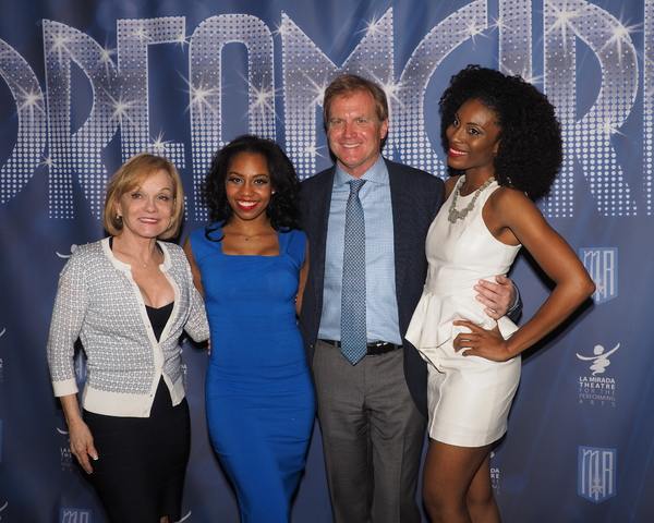 Brittney Johnson and Jasmin Richardson with Executive Producers Cathy Rigby and Tom McCoy