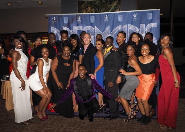 The Cast of DREAMGIRLS with Director/Choreographer Robert Longbottom