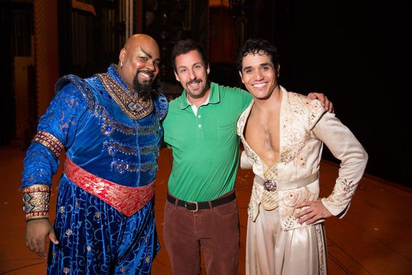 James Monroe Iglehart, Adam Sandler, Adam Jacobs Photo