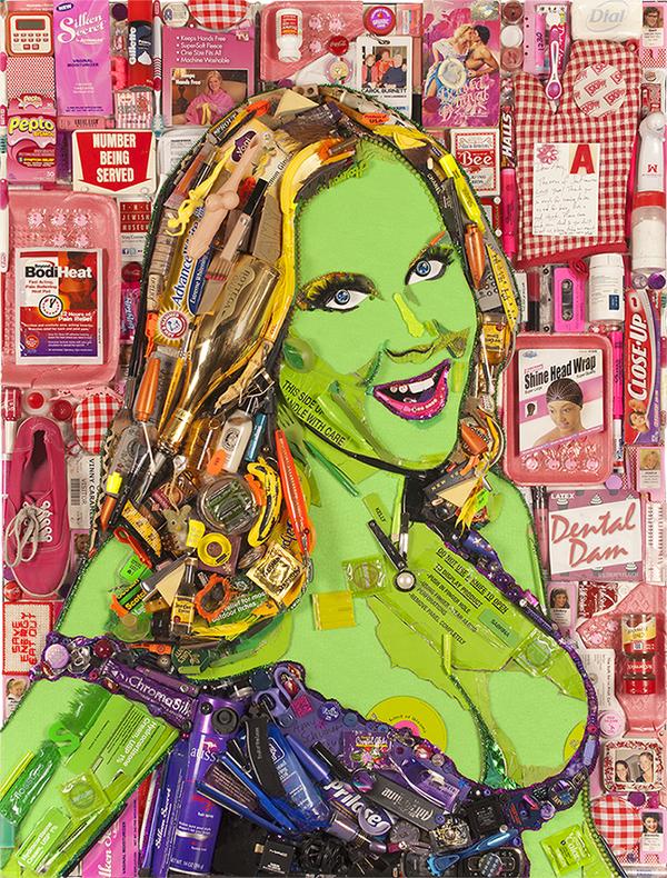 Photo Flash: ArtistJason Mecier Presents CELEBRITY TRASH Portraits - Lindsay Lohan, Pamela Anderson and More!