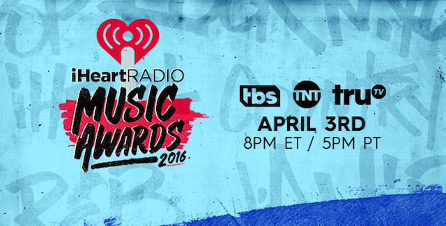 IHEARTRADIO MUSIC AWARDS to Air Live on TBS, TNT & truTV, 4/3