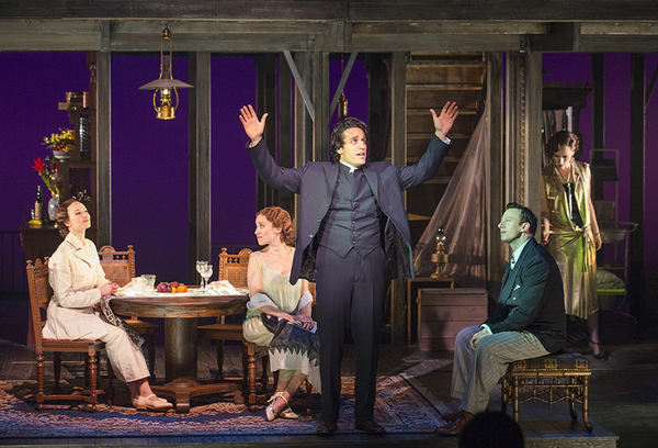 Elizabeth A. Davis as Anna Davidson, Betsy Morgan as Louisa MacPhail, Jared Zirilli as Alfred Davidson, Tally Sessions as Alec MacPhail, and Eden Espinosa as Sadie Thompson