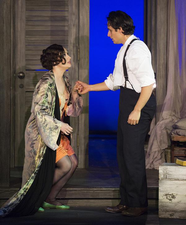Eden Espinosa as Sadie Thompson and Jared Zirilli as Alfred Davidson