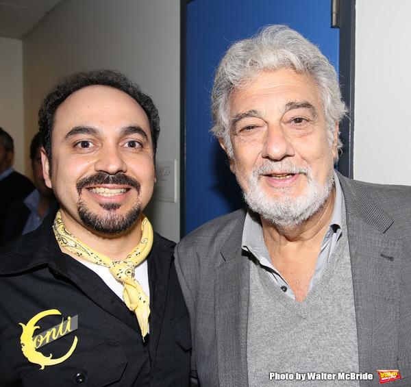 Jose Adan Perez and Placido Domingo
