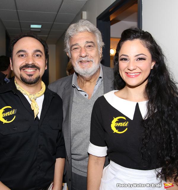 Placido Domingo with Jose Adan Perez and Samarie Alicea