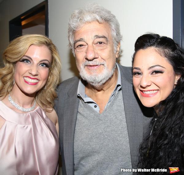 Raquel Suarez-Groen, Placido Domingo and Samarie Alicea