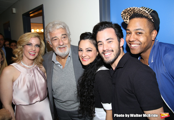 Raquel Suarez-Groen, Placido Domingo, Samarie Alicea, David Castillo, and Dwayne A. Washington