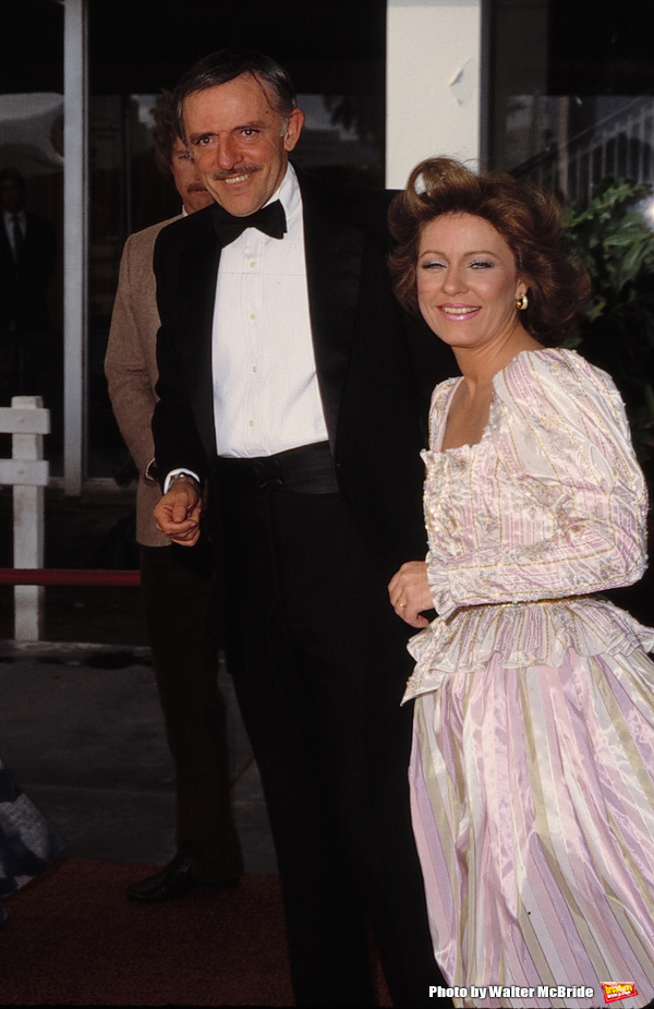 Patty Duke with her husband John Astin Attending a party in Los Angeles, California. September 1, 1982.