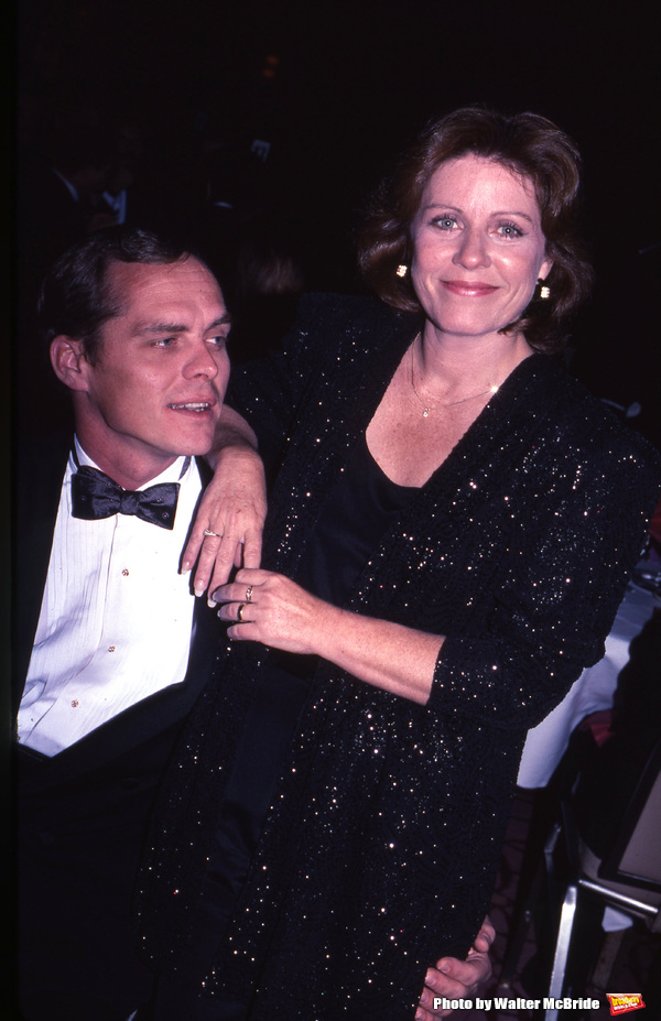 Patty Duke with husband Michael Pearce in New York City on September 1, 1996