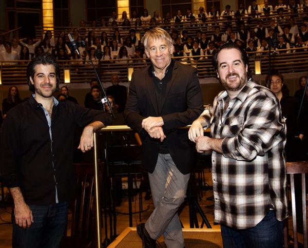 Maestro Kristofer Sanz, Composer and Guest Mentor Stephen Schwartz, Artistic Director Rolando Sanz