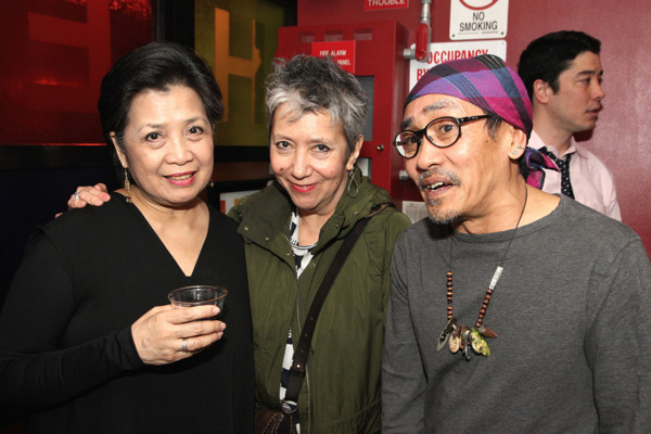 Mia Katigbak, Playwright and Author Jessica Hagedorn and Jojo Gonzalez