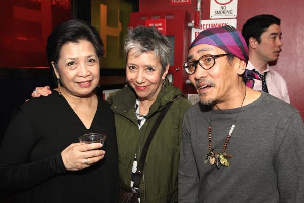 Mia Katigbak, Playwright and Author Jessica Hagedorn and Jojo Gonzalez