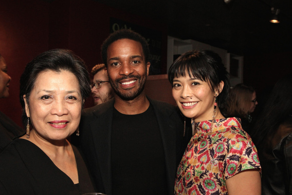 Mia Katigbak, Andre Holland and Tiffany Villarin
