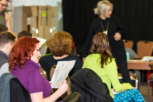 Photo Flash: First Day Rehearsal of HAZEL, A MUSICAL MAID IN AMERICA at Drury Lane