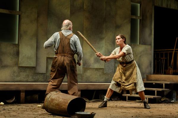 Mark Lambert as Phil Hogan and Kate Forbes as Josie Hogan Photo