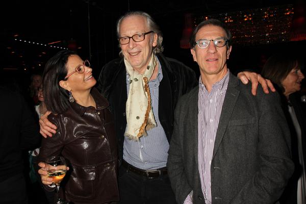 Nomi Bronner, Ronald Guttman and Ethan Bronner Photo