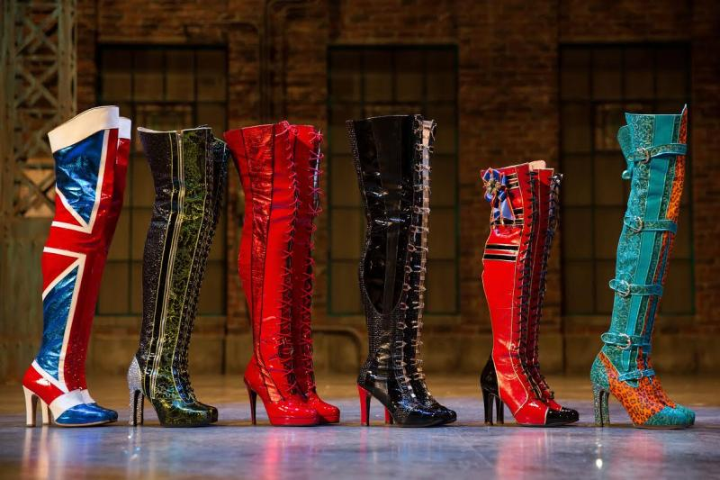 The boots do more than walk in KINKY BOOTS. Photo: Matthew Murphy.