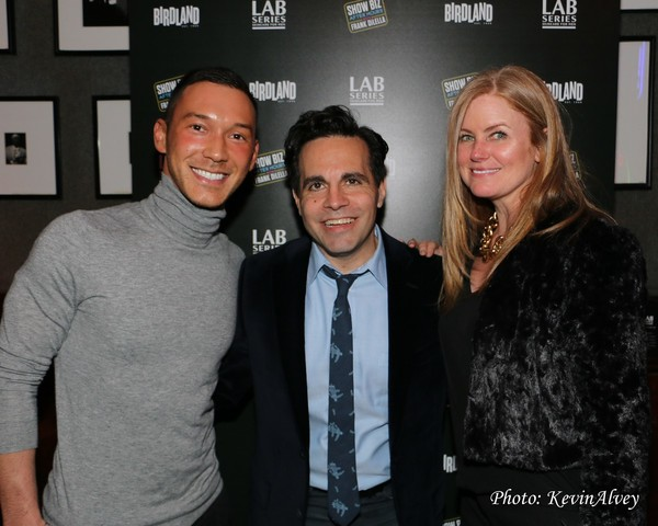 Jason Tran, Mario Cantone and Katie Gray