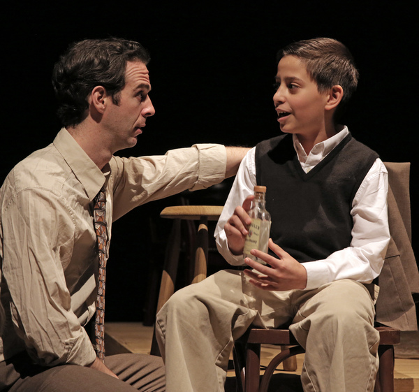 Michael Wood as Moss Hart and Halim Moldaver as his brother Bernie