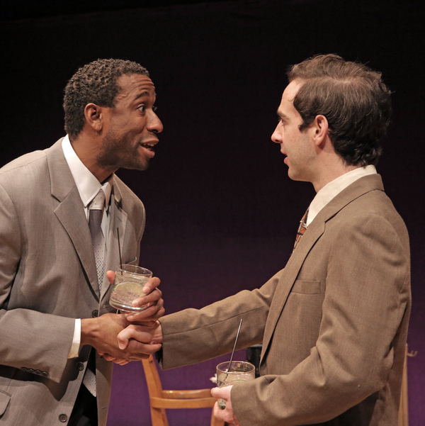 William Oliver Watkins as Langston Hughes and Michael Wood as Moss Hart