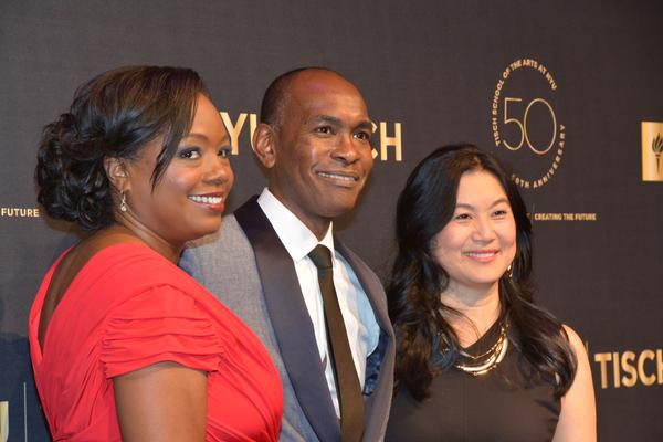 Wendy Calhoun, Paul Tazewell and Lili Cheng