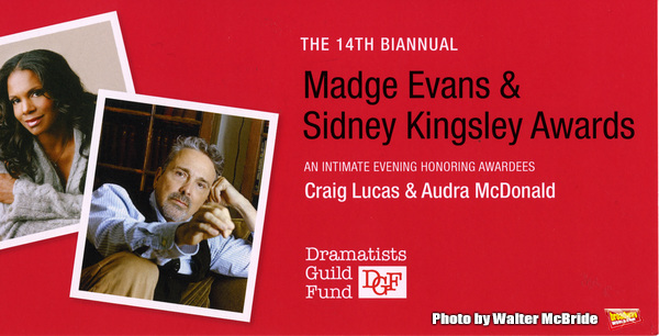 The DGF's 14th Biannual Madge Evans & Sidney Kingsley Awards at the Dramatists Guild Fund headquarters on April 4, 2016 in New York City.