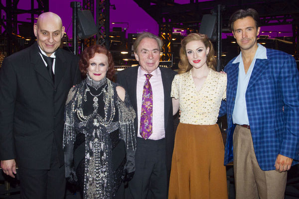 Fred Johanson, Andrew Lloyd Webber, Michael Xavier and Siobhan Dillon