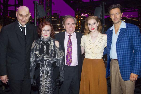 Fred Johanson, Andrew Lloyd Webber, Michael Xavier and Siobhan Dillon