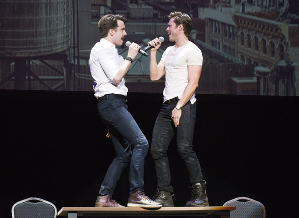 Gavin Creel and Aaron Tveit