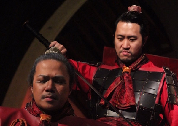 Angelo Paragoso as DongZhuo and Arthur Lee as LuBu Photo