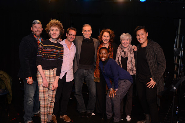 Billy Mitchell (DeBlanks creator), Doug Plaut, Michael Riedel, Marc Kudisch, Randy Graff, Nancy Opel, Marc Kudisch. Front: Brenda Braxton (producer).