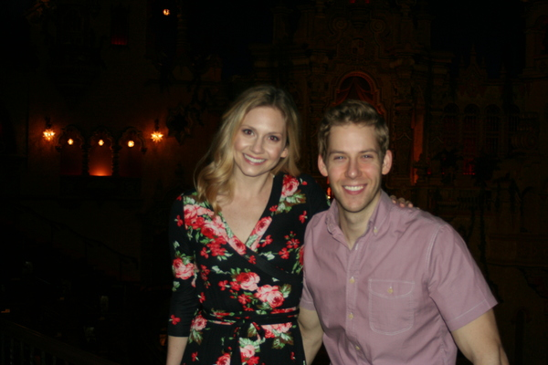 Audrey Cardwell & Andy Huntington Jones at the Majestic Theatre in San Antonio, Texas
