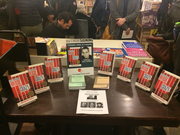 Plays by Stephen Adly Guirgis for sale at the Drama Book Shop in New York.