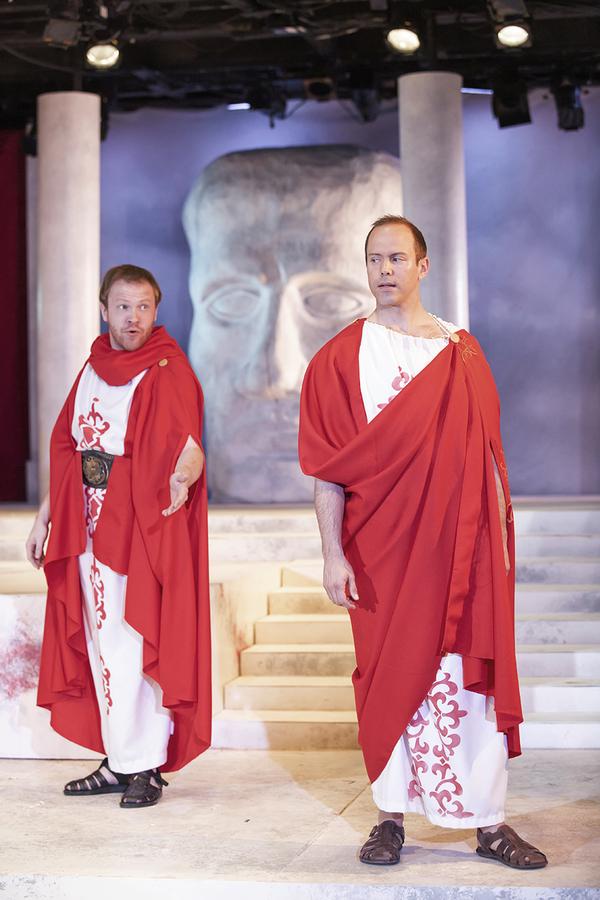 Josh Katawick as Cassius and Brent Vimtrup as Brutus