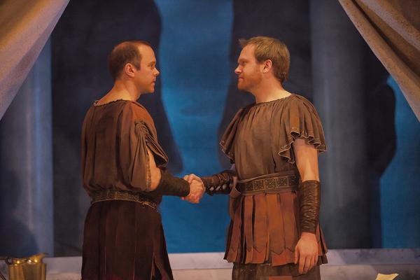 Brent Vimtrup as Brutus and Josh Katawick as Cassius