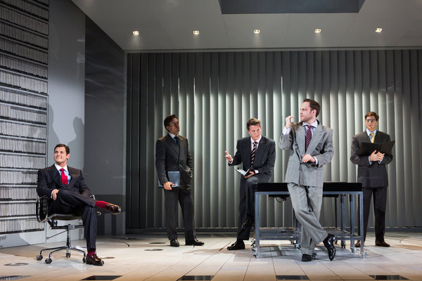 Benjamin Walker, Alex Michael Stoll, Dave Thomas Brown, Theo Stockman and Jordan Dea Photo
