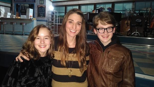 Sydney Lucas, Sara Bareilles and Jake Lucas