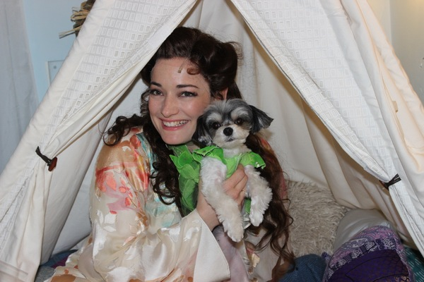Photo Flash: Tinkerbelle the Dog Visits Broadway's FINDING NEVERLAND