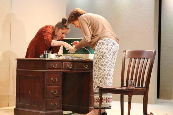 Emily Louise Perkins, Linda Marie Larson; Photo by Nick Benacerraf