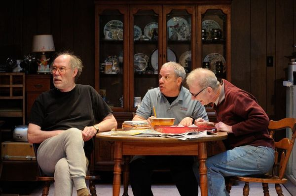 Timothy Crowe as Louis, Stephen Berenson as Bob and Brian McEleney as Arnie