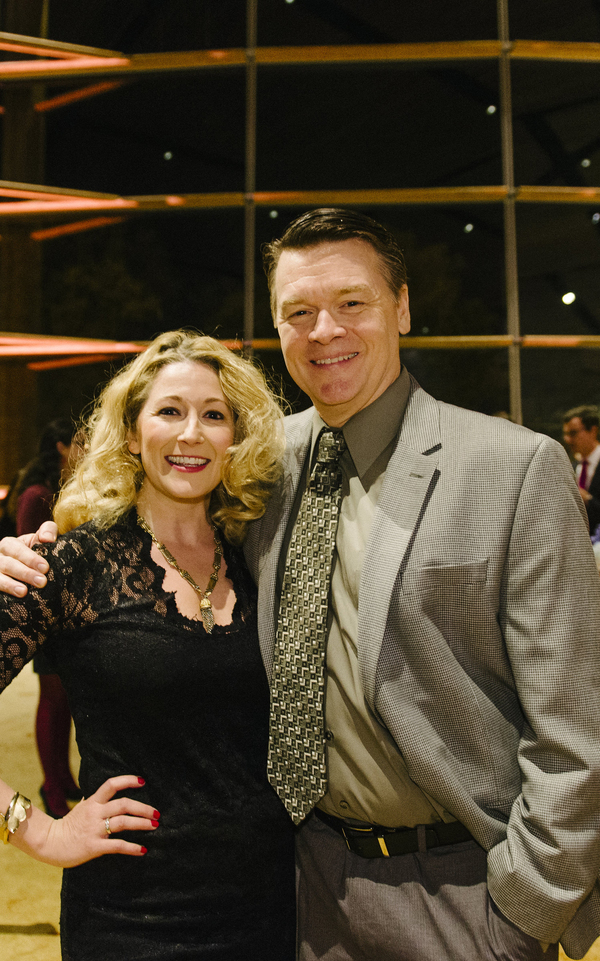 Cast members Adrienne Nelson and John Scherer