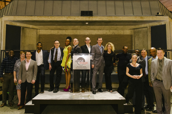 The company of ALL THE WAY at the opening night at Arena Stage