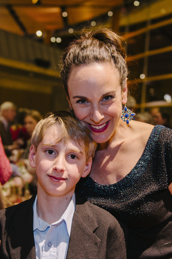 Cast member Susan Rome with her son