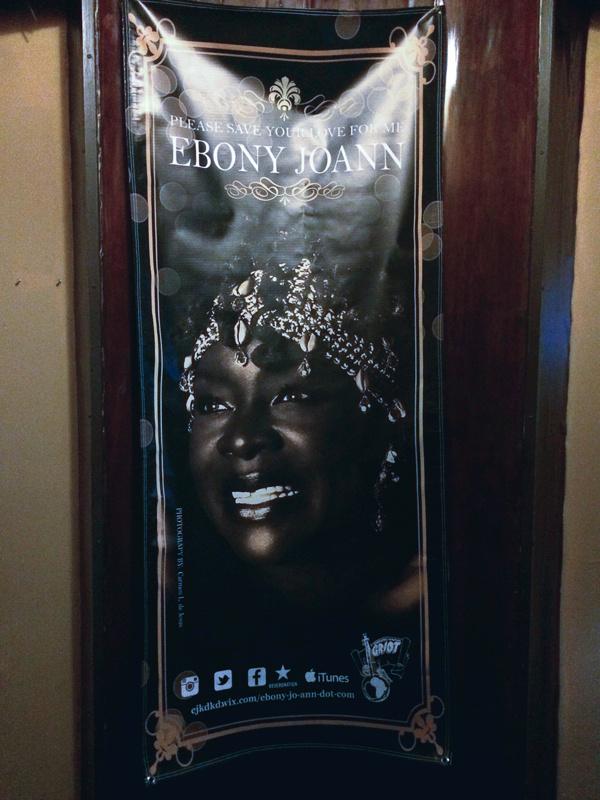 Poster of Ebony Jo-Ann with a photo by Carmen L. de Jesus