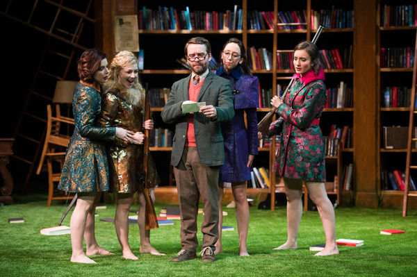 Laura Welsh Berg (as Rosaline), Erin Partin (as Princess of France), Chris Klopatek (as Boyet), Heather Thiry (as Katherine) and Christine Weber (as Maria) - See more at: http://www.greatlakestheater.org/tickets/shows/loves-labours-lost#media