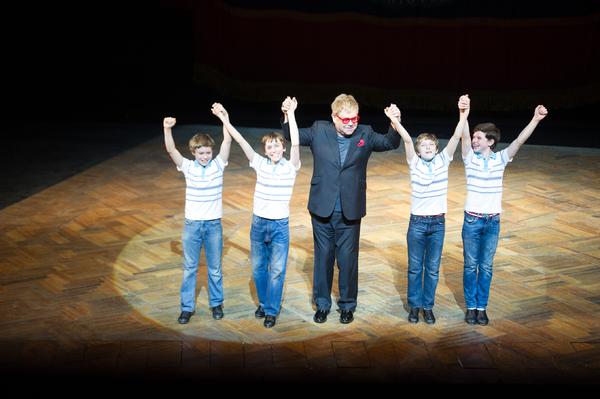 Elton John with Billy Elliots