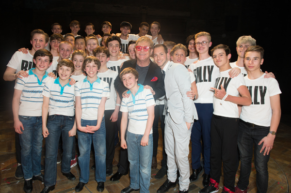 Elton John with Past and Present Billy Elliots Photo