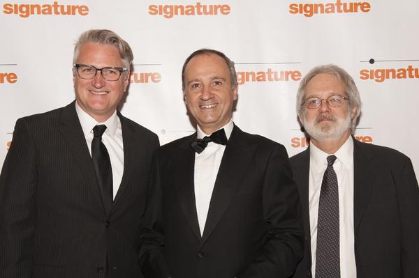 Eric Schaeffer, Italian Ambassador Armando Varricchio, and John Weidman